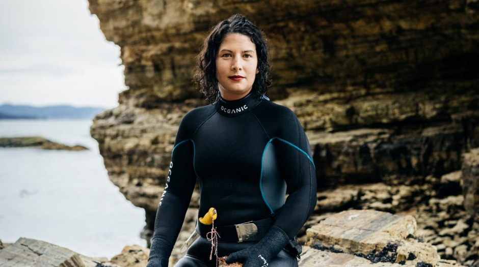 Franklin chef Analiese Gregory has developed a love affair with Tasmania, foraging and diving on her days off.