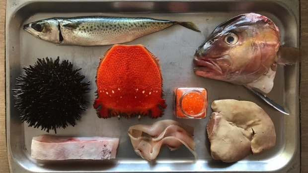 A fish butchery tray from Josh Niland at Saint Peter, Paddington.
