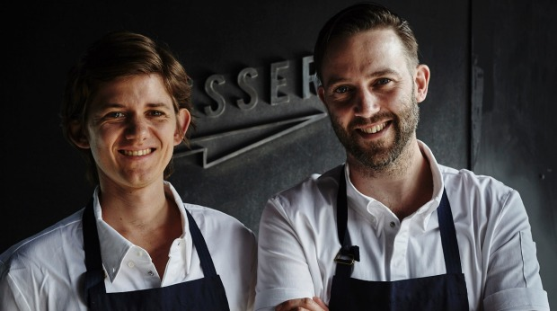 Chefs Sascha Rust and Ashley Davis at Messer, Fitzroy.
