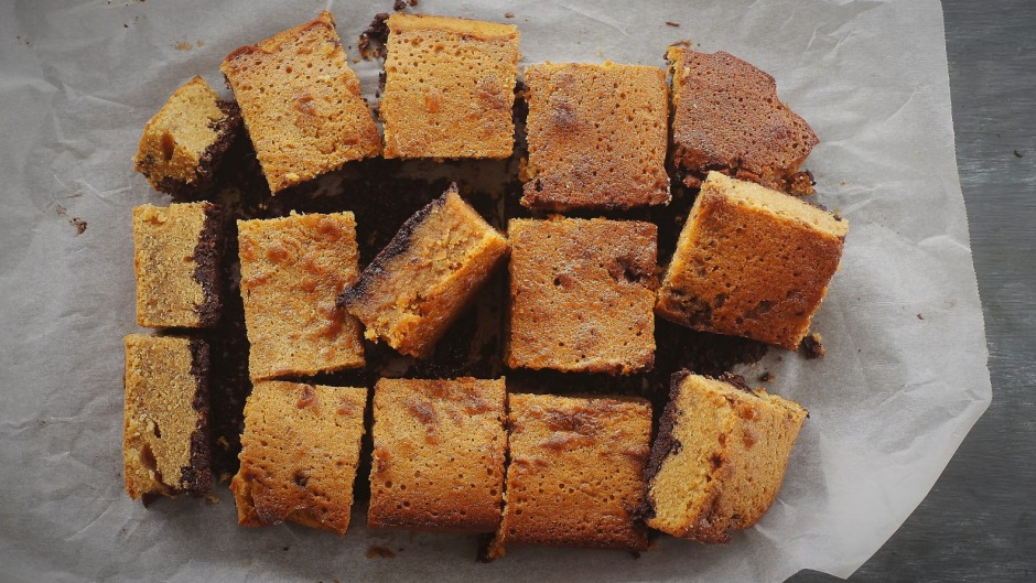 Gingies - Ginger, whisky and maple squares.