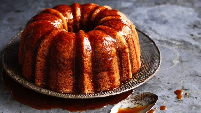 Helen Goh's next-level banana cake with coffee caramel.
