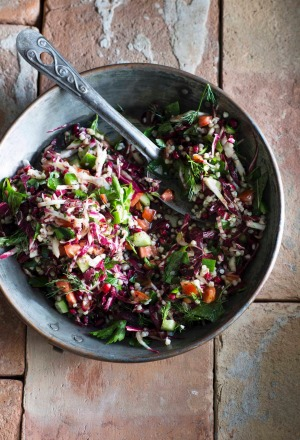 Tabbouleh with radicchio and pomegranate from Cornersmith by Alex Elliott-Howery and James Grant.