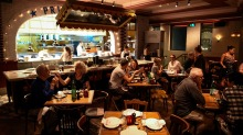 GOOD FOOD. Dining room at The Imperial Hotel, 35 Erskineville Road, Erskineville. 10th April, 2018, Photo: Wolter ...