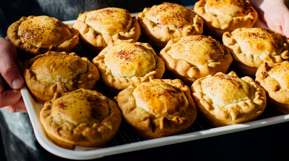 A tray of 'Shazzas' from the Pie Shop.