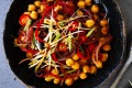 Kylie Kwong's stir-fried chickpeas with black bean and chilli.