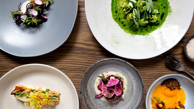 A selection of Brent Savage's vegetarian food at Bentley.