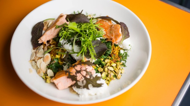 Persian rice kedgeree with salmon is like a security blanket.