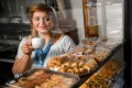 Sweet success: after three years in Australia, Joumana Charaf now runs the Trio Pasta, Sweets and Nuts in Lygon Street, ...
