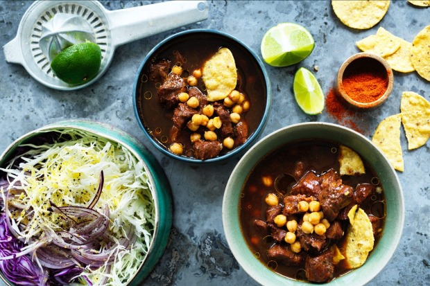 Neil Perry's Mexican-style pork and chickpea soup <a ...