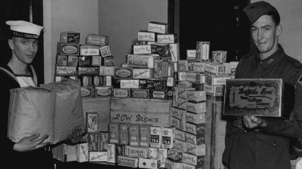 Food parcels from home were welcome by troops during the wars.
