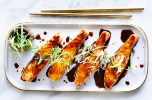 Speedy teriyaki salmon.