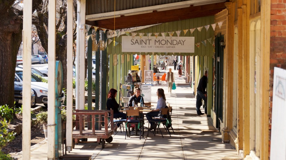 Saint Monday cafe in Yackandandah puts the emphasis on local, seasonal and ethical food.