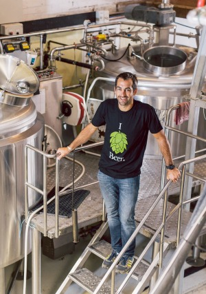 Ben Kraus, of Bridge Road Brewers, is the Willy Wonka of craft beers.