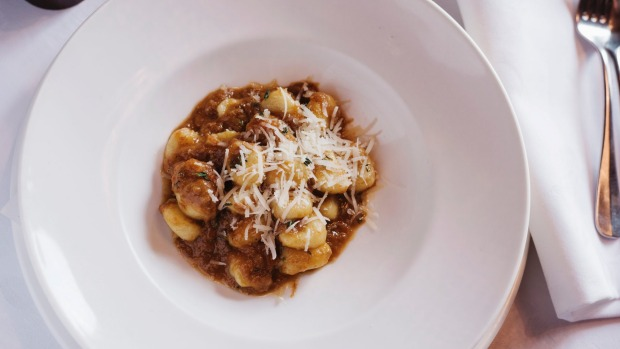Gnocchi with thyme and lamb ragu.