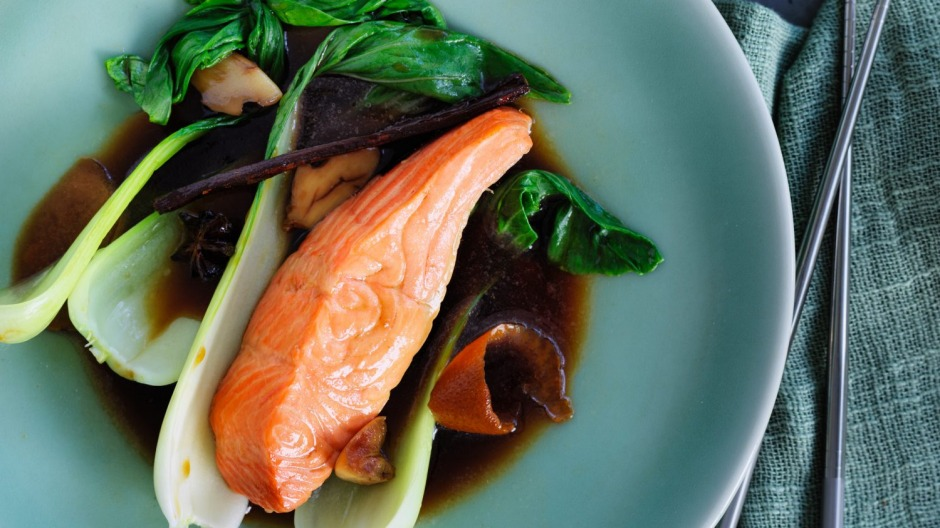 Gently does it: Poached trout with texture and substance.