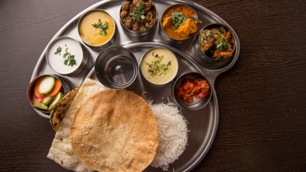 GOOD FOOD. Dish: North Indian Thali. Taj Indian Sweets & Restaurant, 91 Wigram St, Harris Park. 3rd May 2018, Photo: Wolter Peeters, The Sydney Morning Herald.
