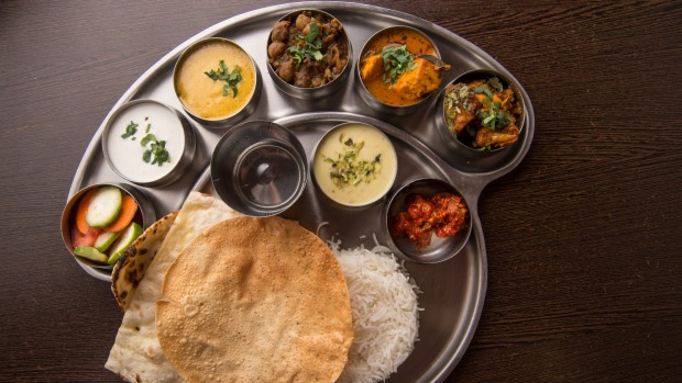 North Indian thali.