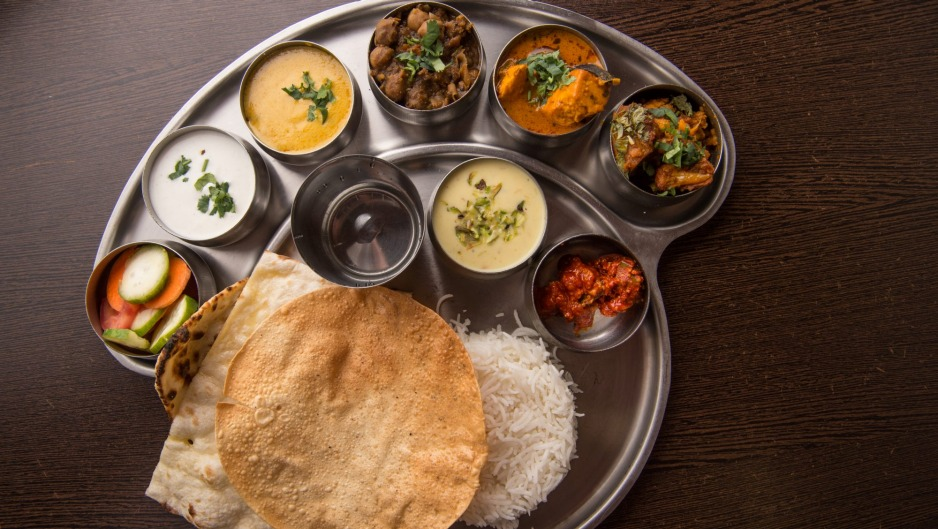North Indian thali at Taj Indian Sweets and Restaurant, Harris Park.