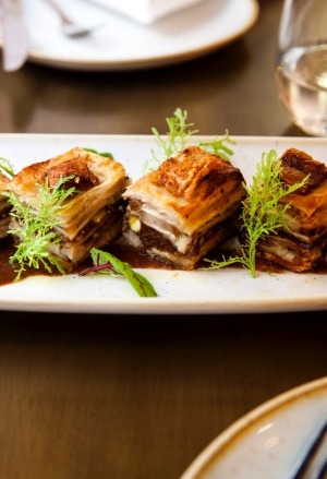 David Tsirekas' pork belly baklava.