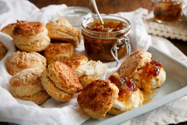 Mix things up a bit with Karen Martini's saffron scones with labna and fragrant orange blossom marmalade <a ...