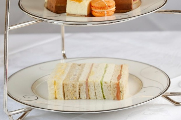 Step-by-step guide to making the Hotel Windsor's finger sandwiches, including cucumber, egg mayo, and chicken fillings ...