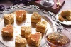 Heart-shaped petits fours with nougatine and honey buttercream <a ...