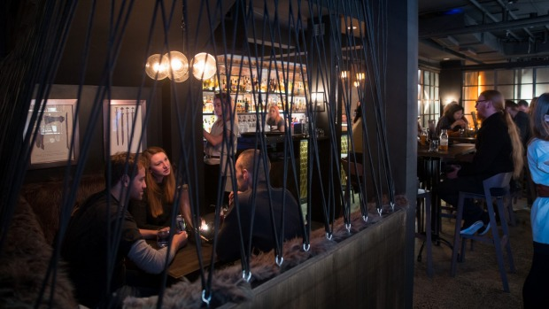 The downstairs bar at Mjolner Melbourne.