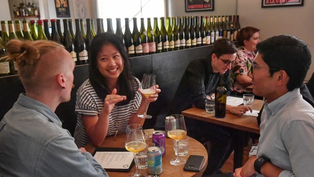 """Millennials in 2030 are going to be spending more money on wine than any other age group."" Bar Liberty in Fitzroy, ..."