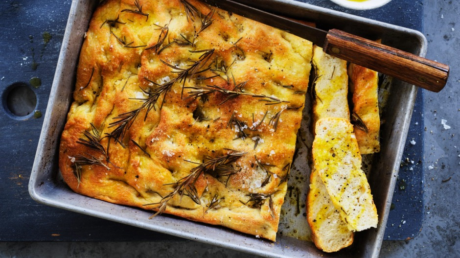 Sea salt and rosemary focaccia.