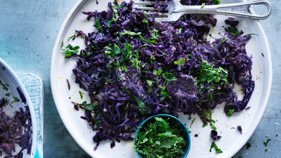 Red-cooked cabbage.