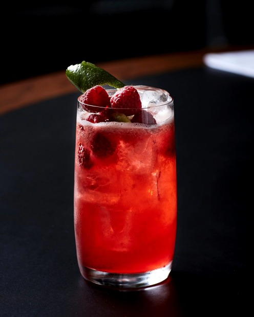 This Wimbledon-inspired 'Courtside Cooler' is a fruity non-alcoholic drink with all the flavour of a gin and tonic <a ...