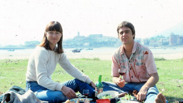 Peter and Bev Doyle picnic while touring Europe in the 1970s.