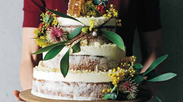 Forget lemon and elderflower, how about honey and lemon myrtle decorated with Australian native flowers.