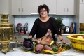 Alla Wolf-Tasker photographed at home in her kitchen in Daylesford.