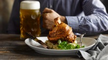 Because you can't have a beer hall without pork knuckle.
