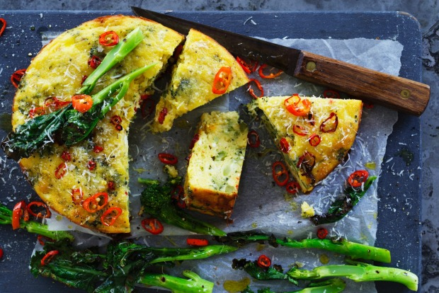 Helen Goh's roasted broccoli, chilli and ricotta cake  <a ...