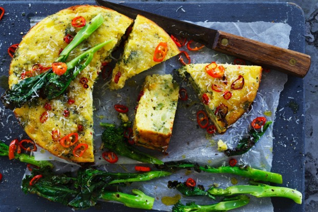 15. Sick of zucchini slice? Try Helen Goh's roasted broccoli, chilli and ricotta cake <a ...
