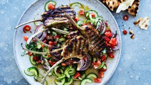 Serve the cutlets with grilled flatbread and salad.