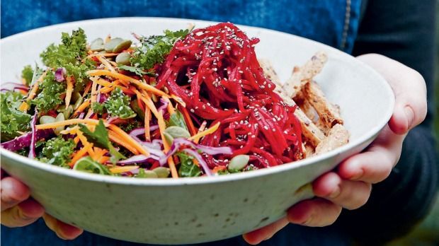 Colourful veg are rich in antioxidants.