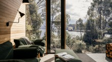 The private retreat at Pumphouse Point gives you plenty of reasons to stay inside.