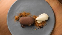 Go-to dish: Chocolate, dulce de leche, buckwheat and cocoa nibs.