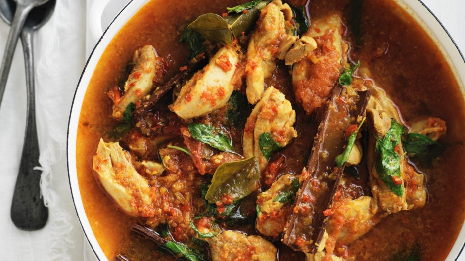 A cross between chicken stew and curry.