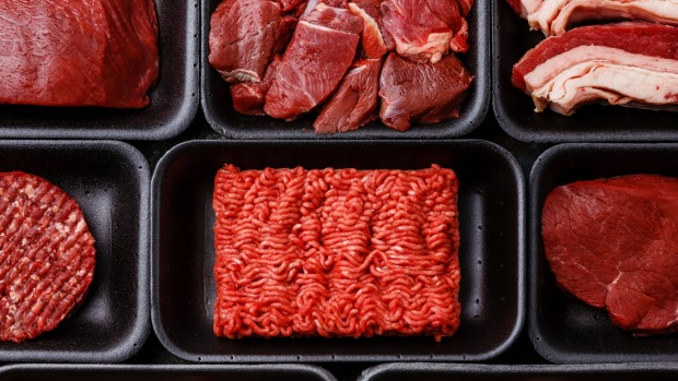 Most supermarket meat is packaged in polystyrene trays and plastic wrap.