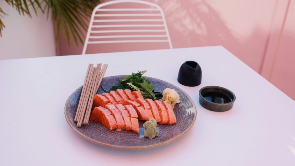 Sashimi from Hyde Park House's modern Japanese menu.