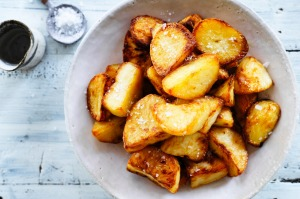 Adam Liaw's salt and vinegar crispy potatoes.
