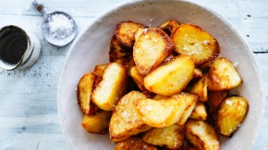 Salt and vinegar crispy potatoes.