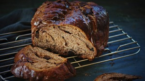 Chocolate brioche-babka (save leftovers for breakfast!).