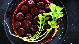This jewel-toned beetroot tarte tatin is as impressive to look at as it is to eat.