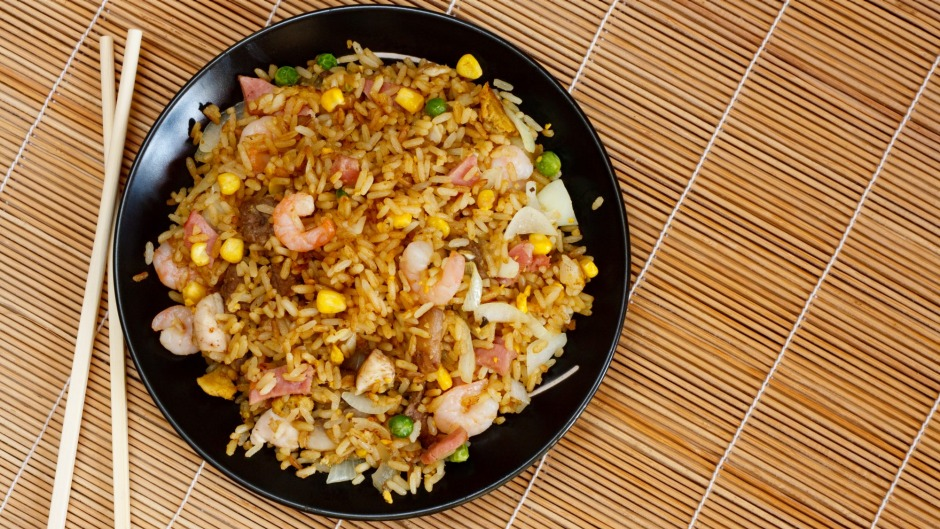 "Yangzhou fried rice - also known as ""special fried rice"" was on the menu."