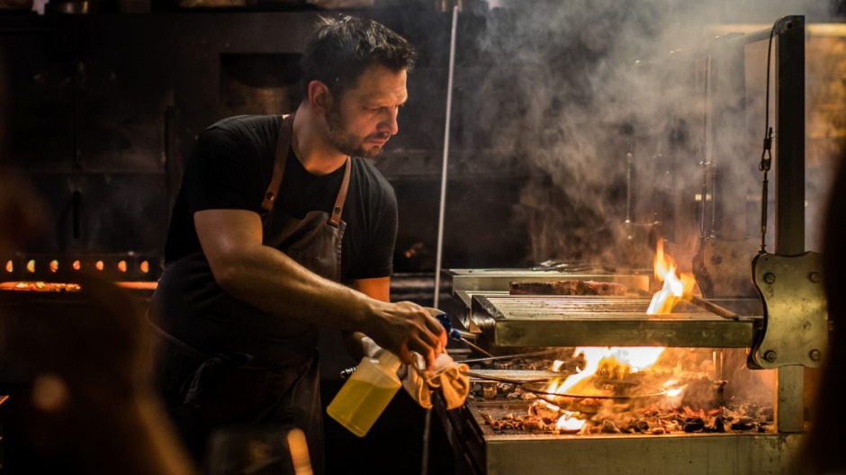 All fired up: Citi Chef of the Year Lennox Hastie at Firedoor in Sydney.